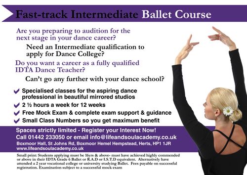 Intermediate Ballet Class at Life & Soul Academy