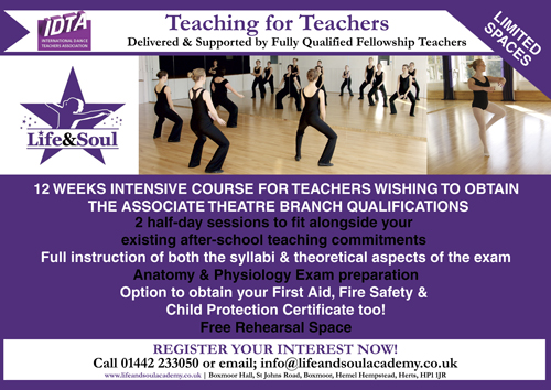 Teacher Training at Life & Soul Academy in Performing Arts